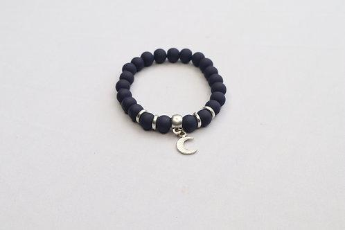 Glass Rubber Moon Bracelet