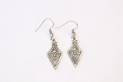 Antique Silver Unique Design Earrings