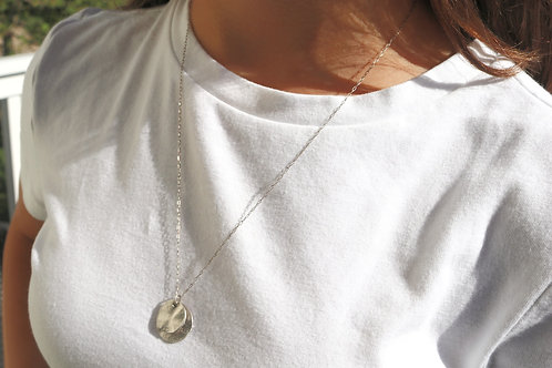 Double Circle Disc Necklace
