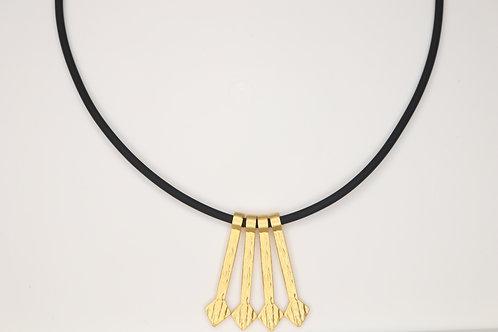 Arrows Rubber Necklace