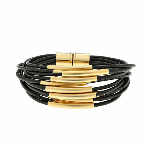 Gold Multi Cord Bracelet With Magnet