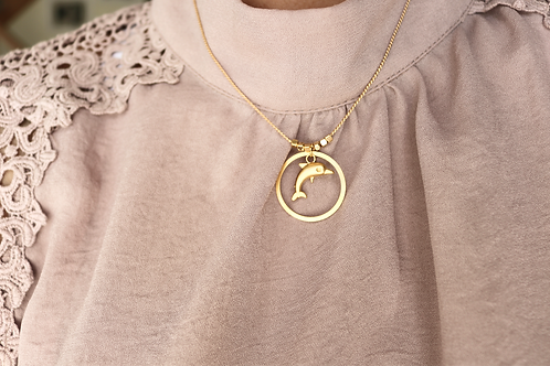 Dolphin Circle Necklace