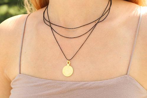 Medal Three Layer Necklace