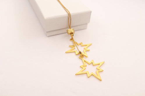 Double North Star Necklace