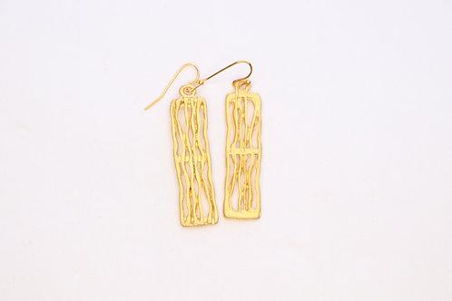 Rectangle Long Earrings