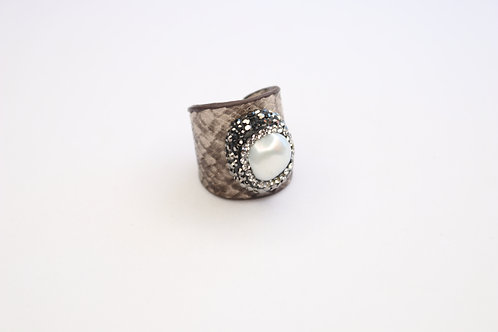 Statement Leather Ring