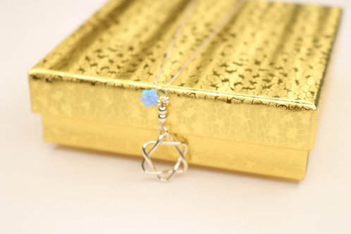 Double Jewish Star Necklace