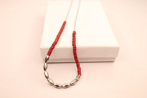 Elise Short Necklace Silver