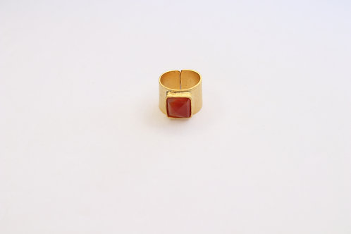 Square Gemstone Ring