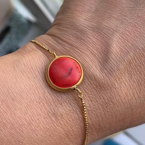 Watermelon Gemstone Bracelet