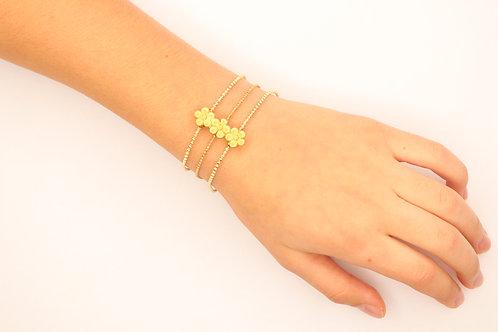Daisy Three Layer Bracelet