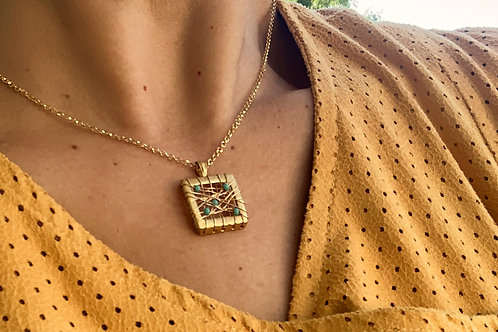 Square Net Necklace