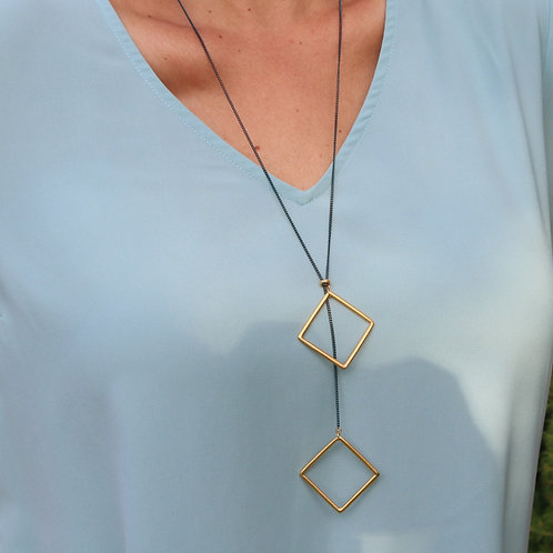Geometric High Low Necklace