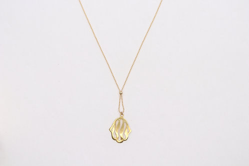 Large Hamsa Gold-filled Necklace