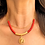 Thumbnail: Tree Of Life Red Gemstone Necklace