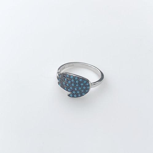 Hamsa Turquoise Ring