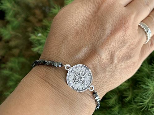 Coin Beaded Bracelet