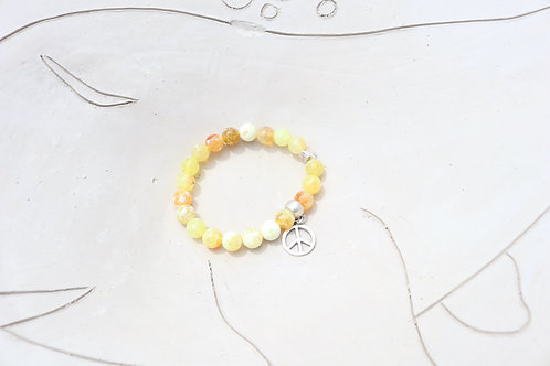 Peace Sign Gemstone Bracelet