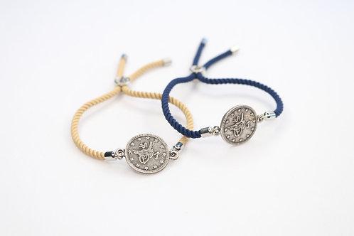 Coin Bracelet Slide Cord