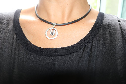 Cowrie Shell Circled Necklace