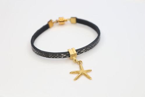 Starfish Leather Bracelet