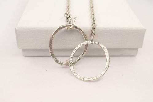 Double Circle Short Necklace