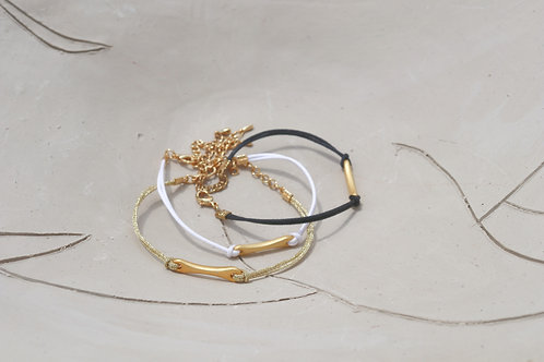 Gold Plated Bone Charm Bracelet