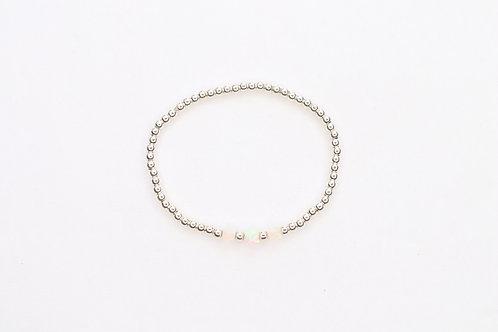 Opal Cube beads Bracelet