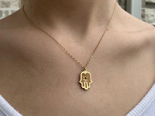 Hamsa Jewish Star Necklace