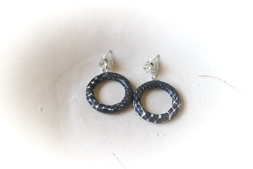 Snake Print Hoop Earrings