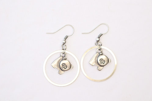 Dogs Circled Earrings