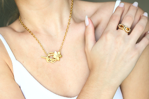 Flower Toggle Necklace