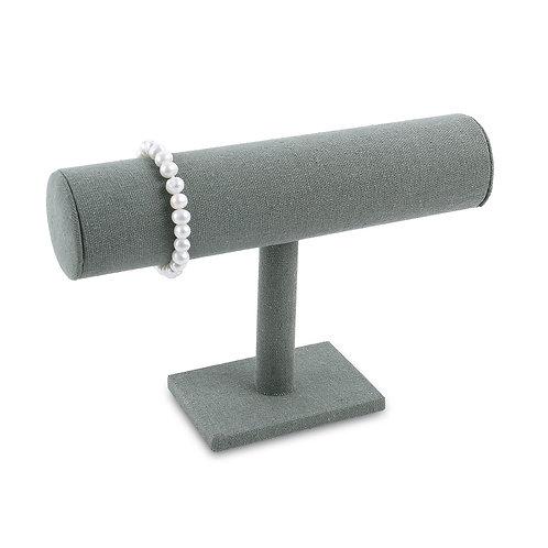 Gray linen Single T-Bar Bracelet Display