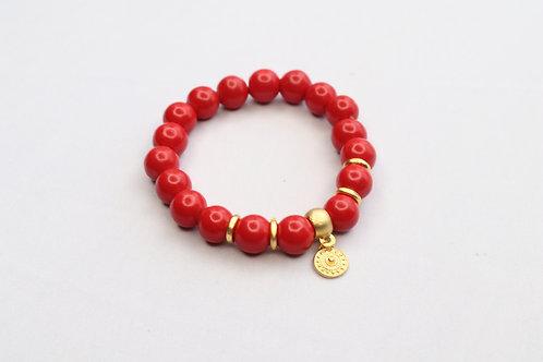 Ceramic Red Bracelet