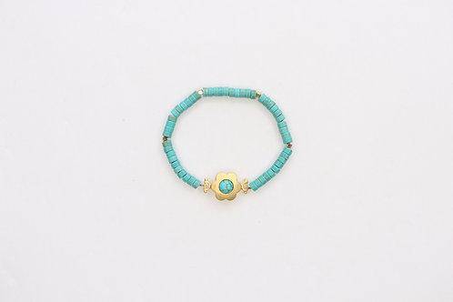 Flower Turquoise Bracelet