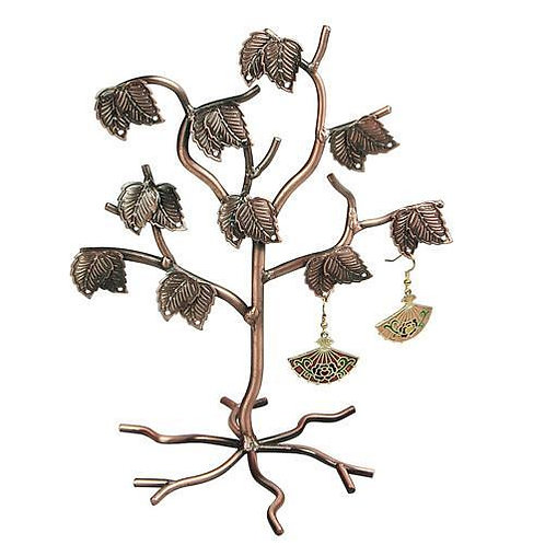 Metal Tree Shaped Earring Display Stand