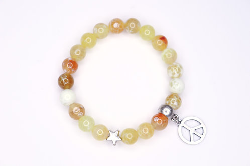 Fire Agate Yellow Bracelet
