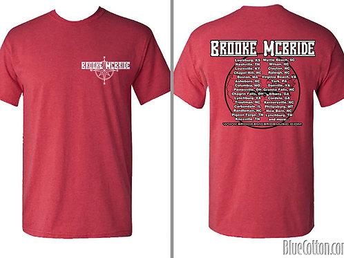 Red Brooke McBride Tour Shirt