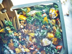 Salade de courge, lentilles et noix caramélisés