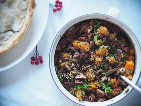 Salade de quinoa, courge et pacanes caramélisées