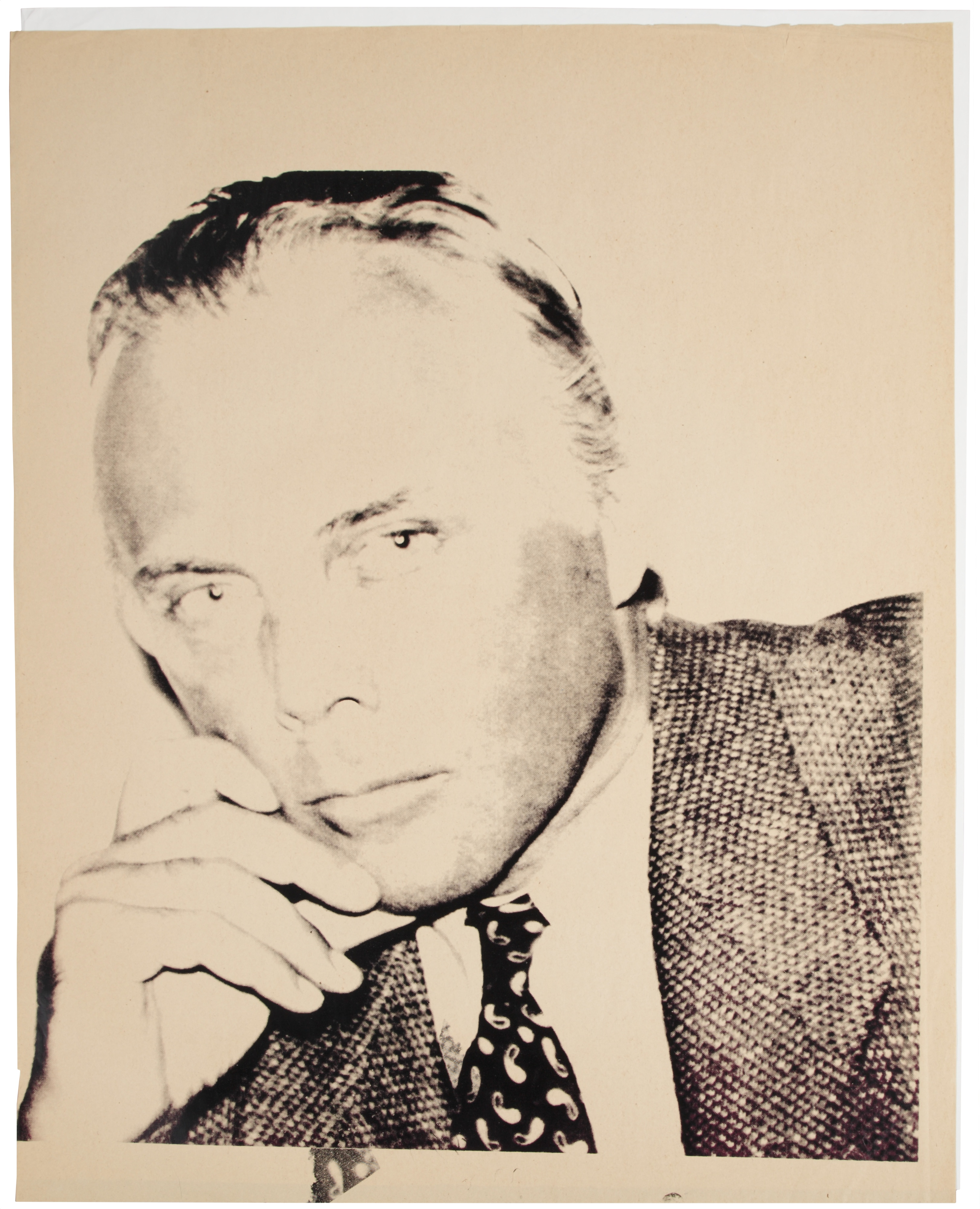 Giorgio Armani, 1981,ink screenprint on