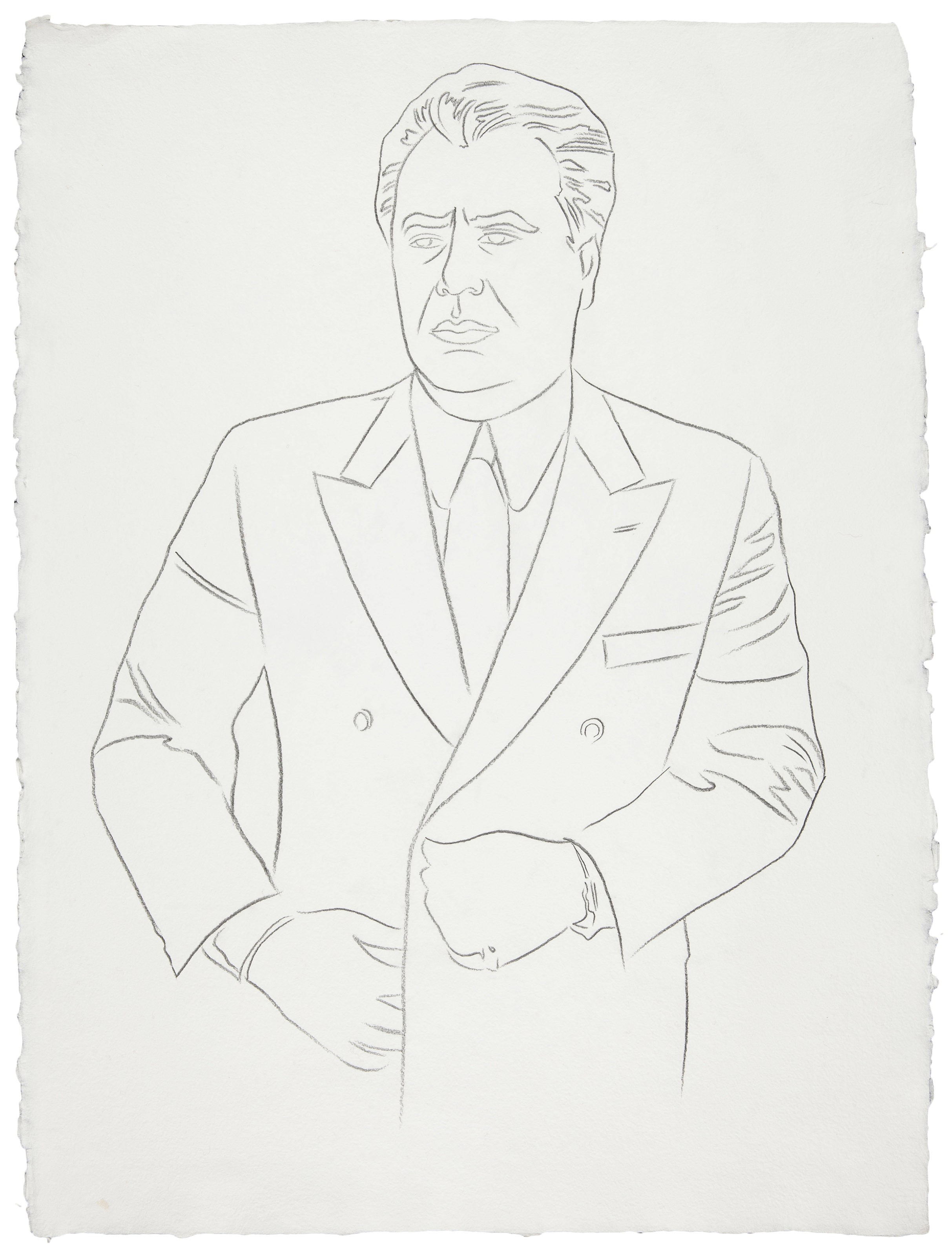 John Gotti, 1986, pencil on paper, 80x60