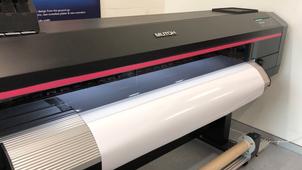 Mutoh XpertJet-1682SR eco-solvent printer with internal lights on