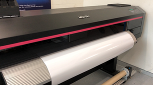 Mutoh XpertJet-1682SR eco-solvent printer with internal lights off