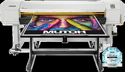 Mutoh VJ-1638UH UV hybrid printer with award
