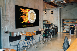 Cafe with UV printed signage