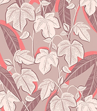 purple leaf textile suface pattern, perfect for homeware. designed by freelance print designer elizabeth rachael
