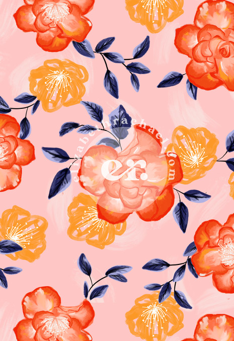 Sketchy Floral Bright Print
