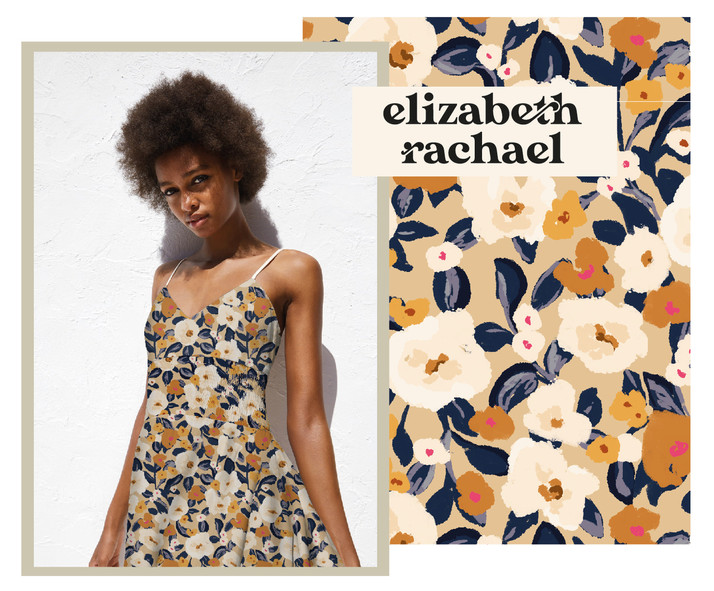 Printed floral summer dress by elizabeth rachael portfolio