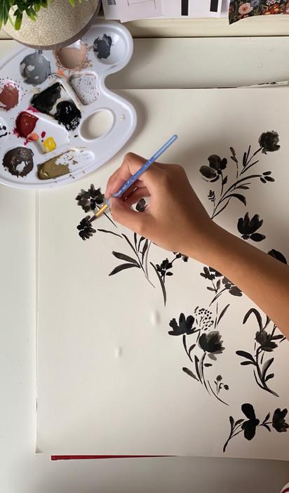 Black floral Time Lapse